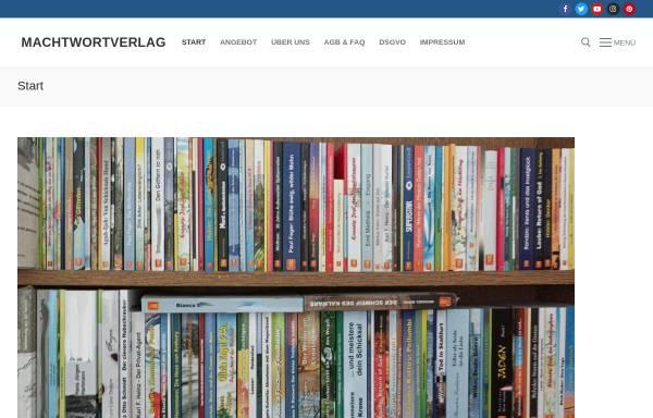 Vorschau von www.machtwortverlag.de, Machtwortverlag