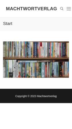 Vorschau der mobilen Webseite www.machtwortverlag.de, Machtwortverlag