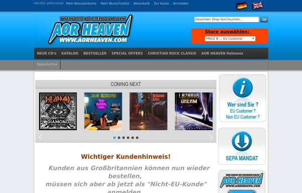 Vorschau von www.aorheaven.com, AOR Heaven, Georg Siegl