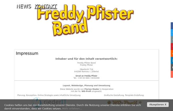 Vorschau von www.freddy-pfister-band.at, Freddy Pfister Band