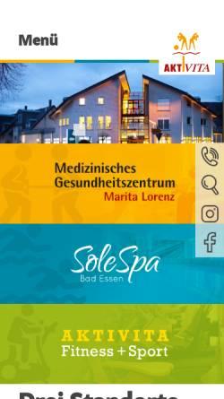 Vorschau der mobilen Webseite www.aktivita-lorenz.de, Aktivita Gesundheitszentrum und Physiotherapie Marita Lorenz
