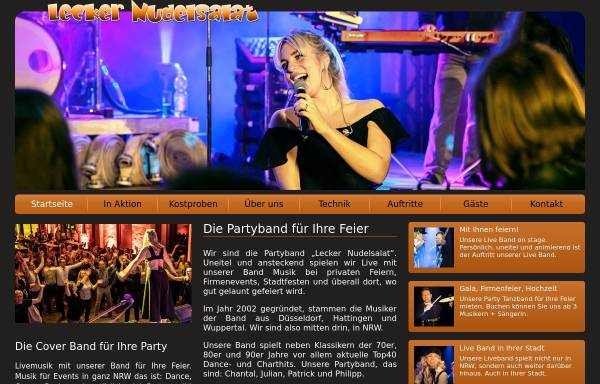 Vorschau von www.lecker-nudelsalat.de, Partyband Lecker Nudelsalat