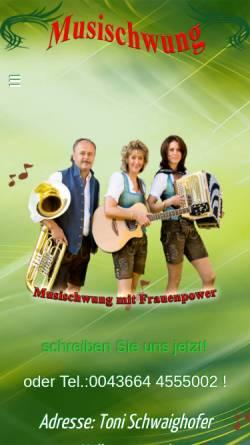 Vorschau der mobilen Webseite www.musischwung.com, Musischwung