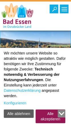 Vorschau der mobilen Webseite www.badessen.de, Gemeinde Bad Essen