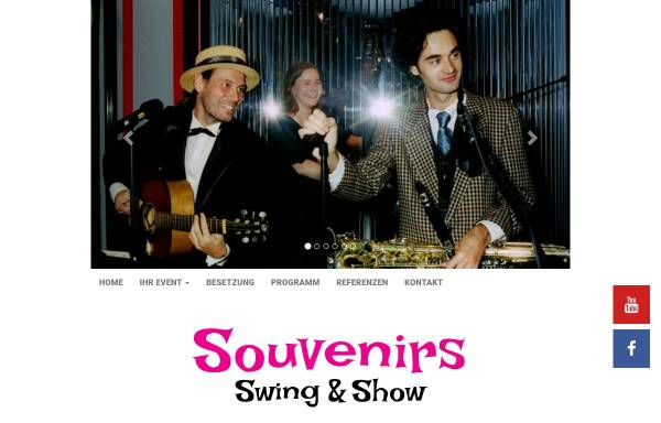 Vorschau von www.swingmusik.de, Souvenirs