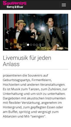 Vorschau der mobilen Webseite www.swingmusik.de, Souvenirs