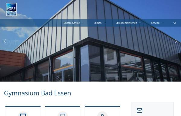 Vorschau von www.g-b-e.de, Gymnasium Bad Essen