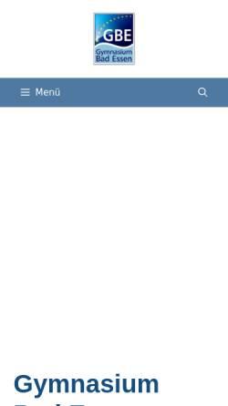 Vorschau der mobilen Webseite www.g-b-e.de, Gymnasium Bad Essen