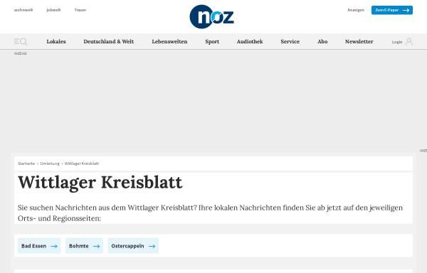 Vorschau von www.noz.de, Wittlager Kreisblatt