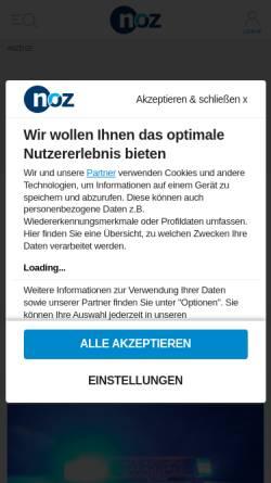 Vorschau der mobilen Webseite www.noz.de, Wittlager Kreisblatt