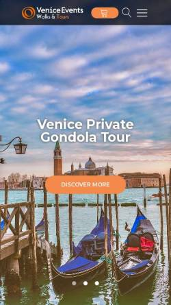 Vorschau der mobilen Webseite veniceevents.com, Venice Events