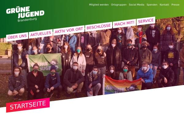 Vorschau von www.gj-bb.de, Grüne Jugend Brandenburg
