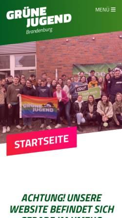 Vorschau der mobilen Webseite www.gj-bb.de, Grüne Jugend Brandenburg