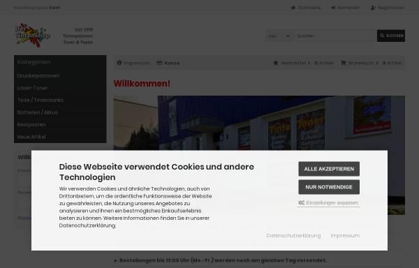Vorschau von www.dertintenshop.de, Artz, Bernhard