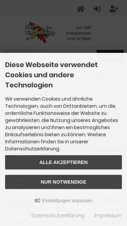 Vorschau der mobilen Webseite www.dertintenshop.de, Artz, Bernhard