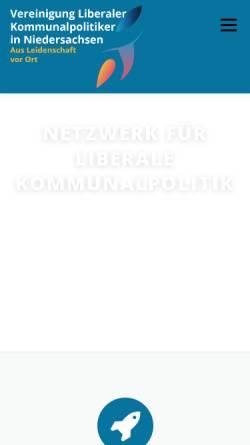 Vorschau der mobilen Webseite www.vlk-nds.de, Vereinigung Liberaler Kommunalpolitiker Niedersachsen