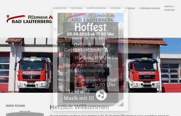 Vorschau von www.ff-badlauterberg.de, Freiwillige Feuerwehr Bad Lauterberg