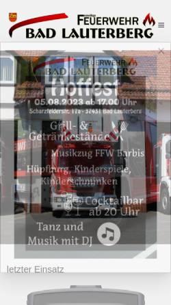 Vorschau der mobilen Webseite www.ff-badlauterberg.de, Freiwillige Feuerwehr Bad Lauterberg