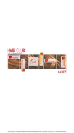 Vorschau der mobilen Webseite www.hair-club.de, Hair Club Aachen