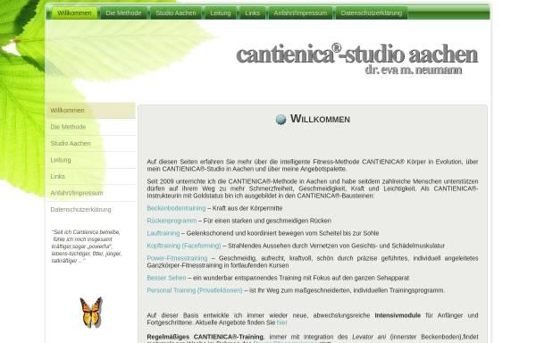 Vorschau von www.cantienica-aachen.eu, Studio für Cantienica, Inhaberin Dr. Eva M. Neumann