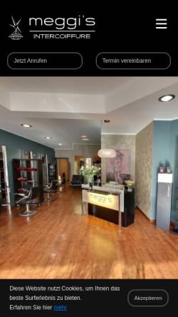 Vorschau der mobilen Webseite www.meggis-hairdesign.de, Meggis Hairdesign