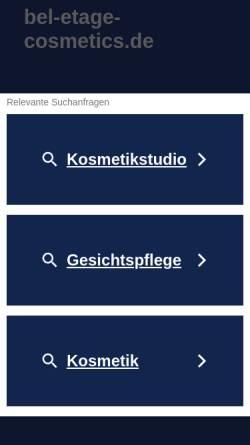 Vorschau der mobilen Webseite www.bel-etage-cosmetics.de, Bel Étage professional cosmetics