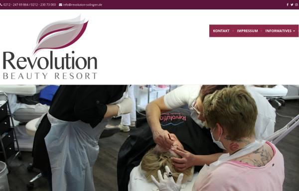 Vorschau von www.revolution-solingen.de, Revolution-Beauty Resort