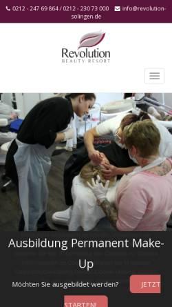 Vorschau der mobilen Webseite www.revolution-solingen.de, Revolution-Beauty Resort