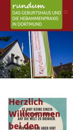 Vorschau der mobilen Webseite www.geburtshaus-dortmund.de, Hebammenpraxis Rundum