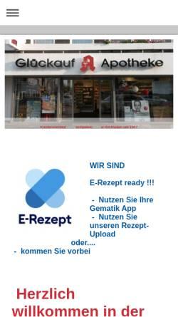 Vorschau der mobilen Webseite www.glueckauf-apotheke-kirchhellen.de, Glückauf-Apotheke