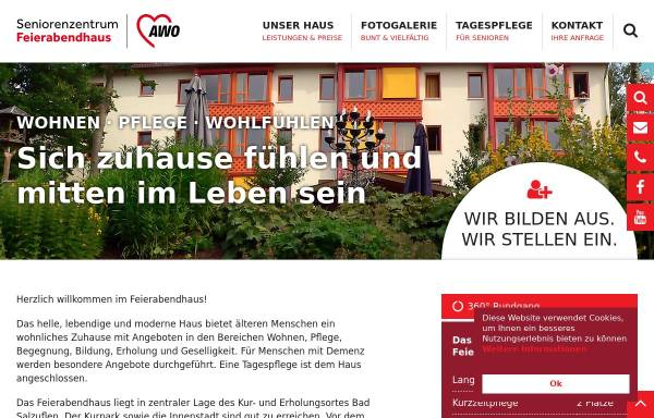 Vorschau von www.feierabendhaus.de, AWO-Feierabendhaus Bad Salzuflen