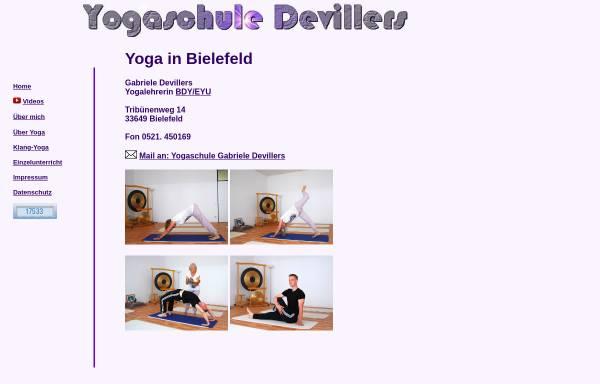 Vorschau von www.yogaschule-devillers.de, Yogaschule Devillers