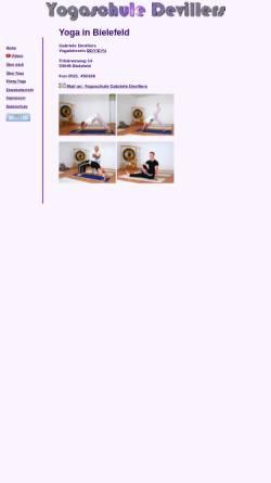 Vorschau der mobilen Webseite www.yogaschule-devillers.de, Yogaschule Devillers