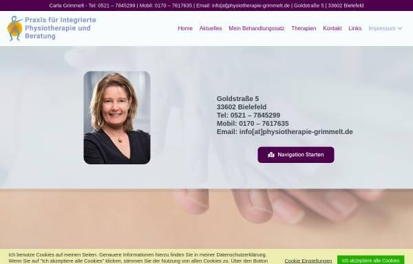 Vorschau von www.physiotherapie-grimmelt.de, Carla Grimmelt
