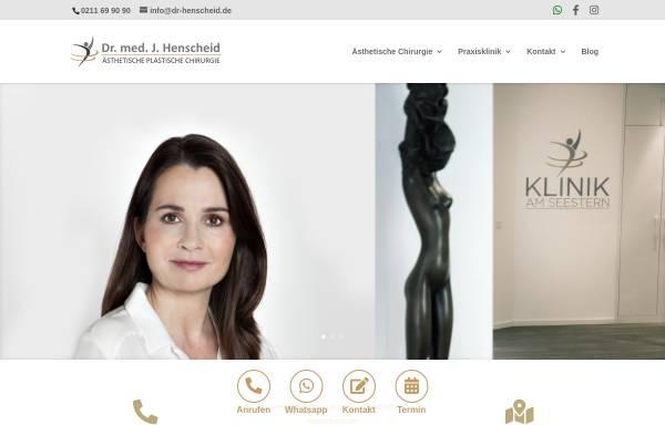 Vorschau von www.dr-henscheid.de, Praxisklinik Dr. med. Jutta Henscheid