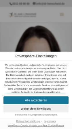 Vorschau der mobilen Webseite www.dr-henscheid.de, Praxisklinik Dr. med. Jutta Henscheid
