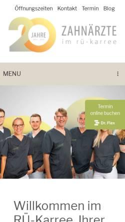 Vorschau der mobilen Webseite www.klinik-im-rue-karree.de, Klinik im RÜ-Karree