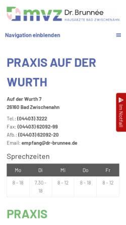 Vorschau der mobilen Webseite www.dr-brunnee.de, Dr. Tilo Brunnée