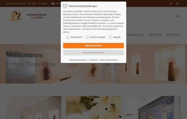 Vorschau von www.praxis-neuemitte.de, Dr. Eva Smolarek und Dr. Tobias Meyer-Langenfeld, Zahnarztpraxis Neue Mitte