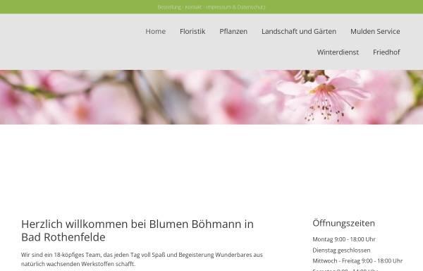Vorschau von www.blumen-boehmann.de, Blumen Böhmann