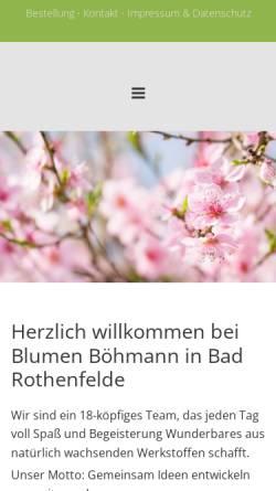 Vorschau der mobilen Webseite www.blumen-boehmann.de, Blumen Böhmann