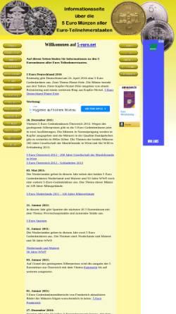 Vorschau der mobilen Webseite www.5-euro.net, 5-euro.net