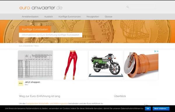 Vorschau von www.euro-anwaerter.de, euro-anwaerter.de