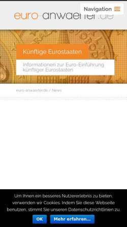 Vorschau der mobilen Webseite www.euro-anwaerter.de, euro-anwaerter.de