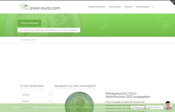 Vorschau von www.zwei-euro.com, zwei-euro.com