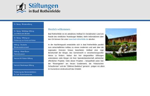 Vorschau von www.stiftungen-in-bad-rothenfelde.de, Stiftungen in Bad Rothenfelde