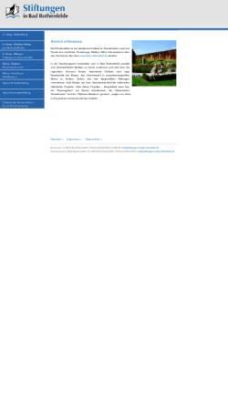 Vorschau der mobilen Webseite www.stiftungen-in-bad-rothenfelde.de, Stiftungen in Bad Rothenfelde