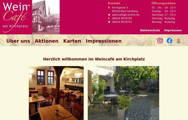 Vorschau von www.weincafe-badcamberg.de, WeinCafé am Kirchplatz