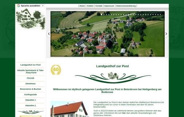 Vorschau von www.landgasthof-neue-post.de, Landgasthof Heiligenberg
