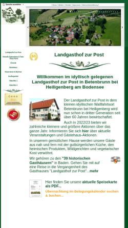 Vorschau der mobilen Webseite www.landgasthof-neue-post.de, Landgasthof Heiligenberg